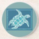 Aqua Sea Turtle Coasters