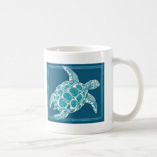 Aqua Sea Turtle Mugs