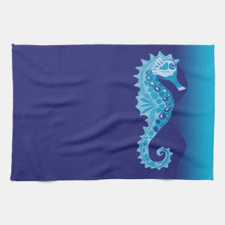 Aqua Seahorse Hand Towel