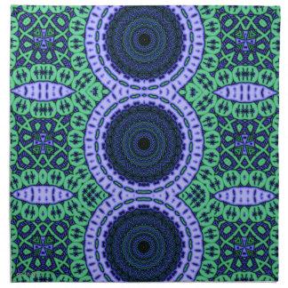 Aqua Seahorse Kaliedescope Pattern Cloth Napkin