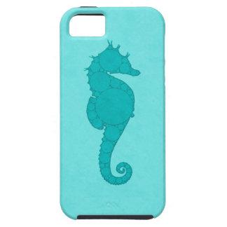 Aqua Seahorse Mosaic iPhone 5 Covers