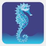 Aqua Seahorse Stickers
