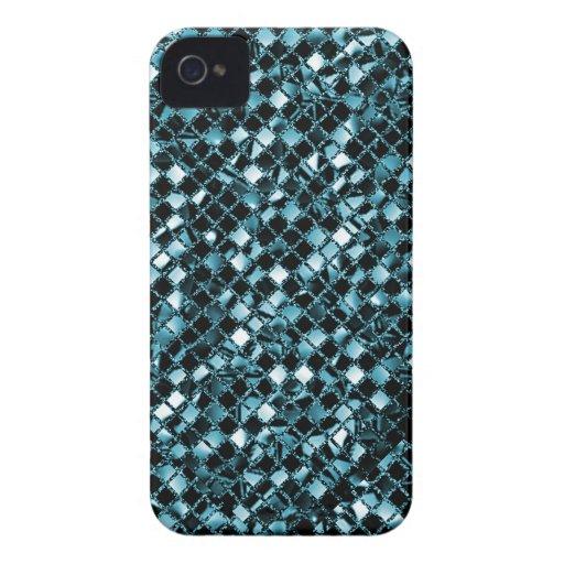 Aqua Sequin Effect Phone Cases iPhone 4 Case-Mate Case