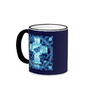 Aqua Serenity Cross Coffee Mugs
