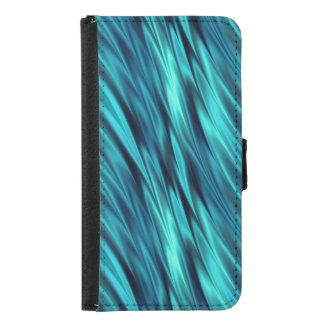 Aqua silky waves samsung galaxy s5 wallet case