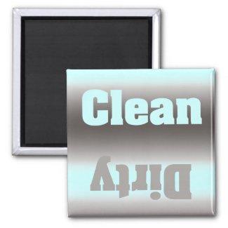 Aqua Silver Dirty Clean Magnet magnet