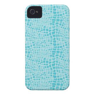 Aqua Snakeskin Pattern iPhone 4 Covers