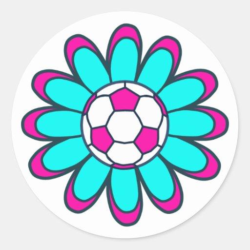 Aqua Soccer Girl Stickers