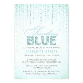 Aqua Something Blue Bridal Shower Invitation