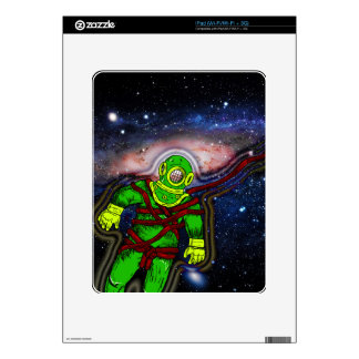 Aqua Space Man iPad Decal