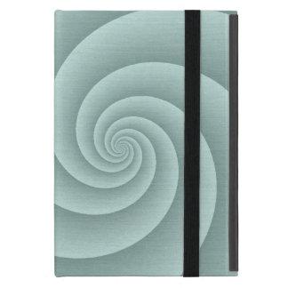 Aqua Spiral in brushed metal texture Case For iPad Mini