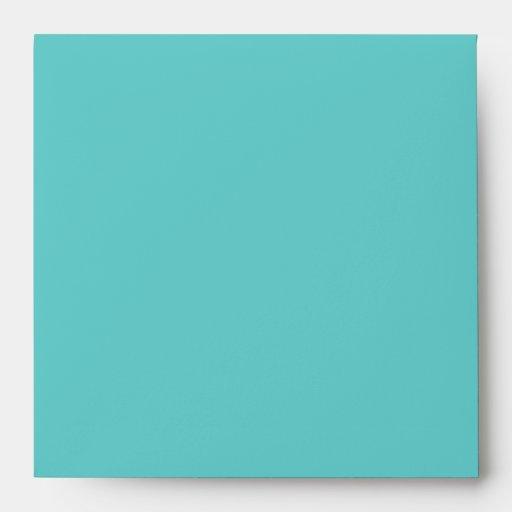 Aqua Square Envelope