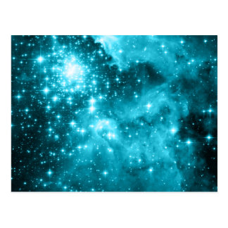 Aqua Stars Postcard