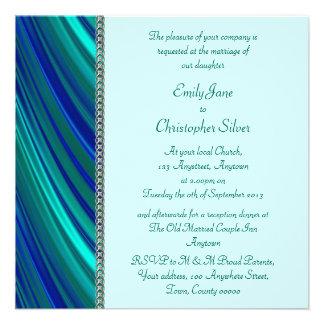 Aqua stripe, silver chain announcements
