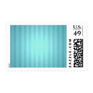 Aqua Striped Background for Your Text Postage