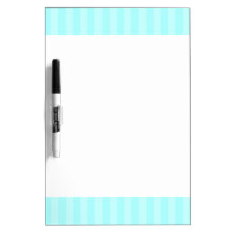 Aqua Stripes Dry Erase Board