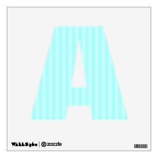 Aqua Stripes Letter A Room Graphics
