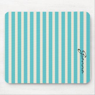 Aqua Stripes Mouse Pad