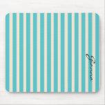 Aqua Stripes Mousepads