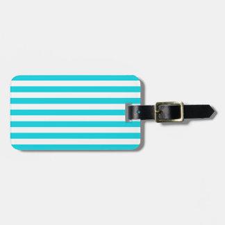 Aqua Stripes Pattern Bag Tag