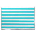 Aqua Stripes Pattern Placemat
