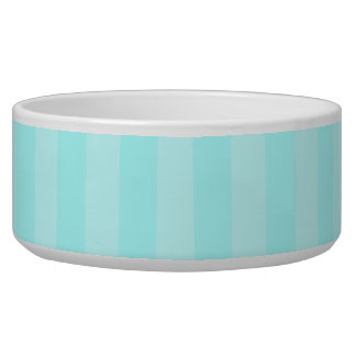 Aqua Stripes Pet Bowls