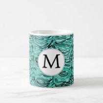 Aqua Stylized zebra print Coffee Mug