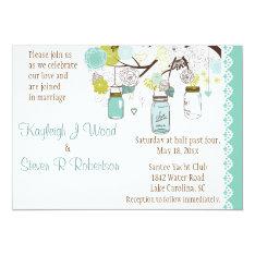 Aqua Summer's Dream Wedding 5x7 Paper Invitation Card at Zazzle