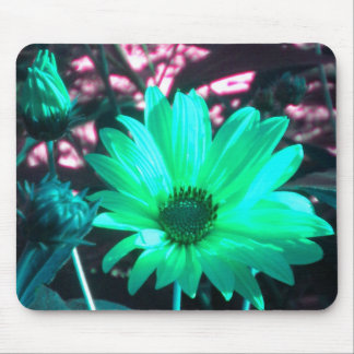 Aqua Sunflower Mouse Pad