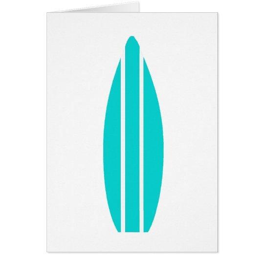 Aqua Surfboard Card