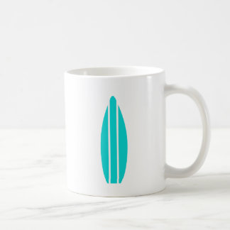 Aqua Surfboard Coffee Mug