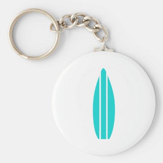 Aqua Surfboard Keychain