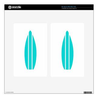 Aqua Surfboard Skins For Kindle Fire