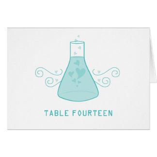 Aqua Sweet Chemistry Table Number Card
