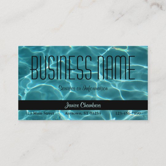 Aqua Swimming Pool Business Card Zazzle