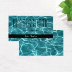Aqua Swimming Pool Business Card at Zazzle