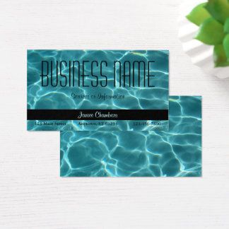 Aqua Swimming Pool Business Card