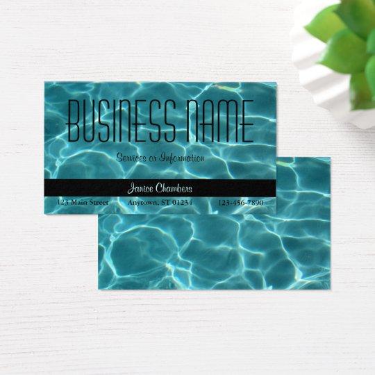 Aqua swimming pool business card zazzlecom for Pool business cards