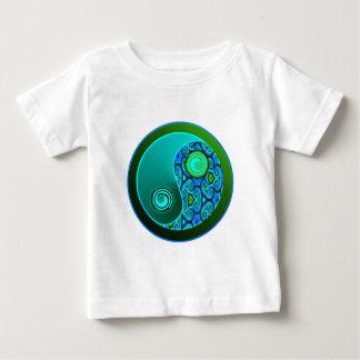 Aqua Swirls Yin Yang Baby T-Shirt