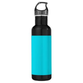 Aqua Teal Background on a Water Bottle