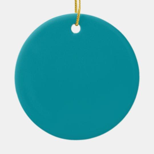 Aqua Teal Background on an Ornament