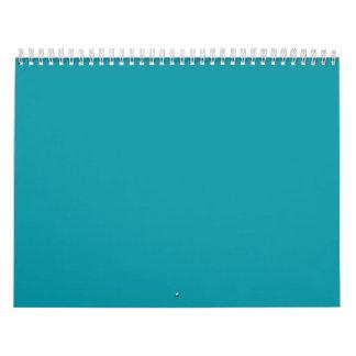 Aqua Teal Backgrounds on a Calendar