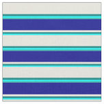 [ Thumbnail: Aqua, Teal, Beige, Dark Blue, and Light Sea Green Fabric ]