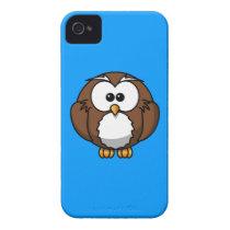Aqua Teal Blue Owl iPhone Case