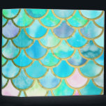 """Aqua Teal Blue Watercolor Mermaid Scales Pattern 3 Ring Binder<br><div class=""""desc"""">This pretty sparkling pink and aqua turquoise Mermaid Glitter Scales 3 Ring Binder is for all Luxury Fashion Lovers. I created with more than 130 different glitter and watercolor layers. A beautiful fresh blue and aqua turquoise and spring like Design. It is the perfect gift for her for the stylish...</div>"""