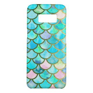 Aqua Teal Blue Watercolor Mermaid Scales Pattern Case-Mate Samsung Galaxy S8 Case