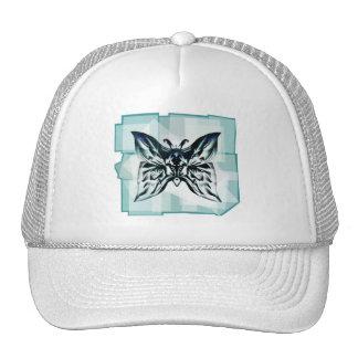 Aqua Teal Butterfly Frame Trucker Hat