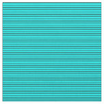 [ Thumbnail: Aqua & Teal Colored Striped/Lined Pattern Fabric ]