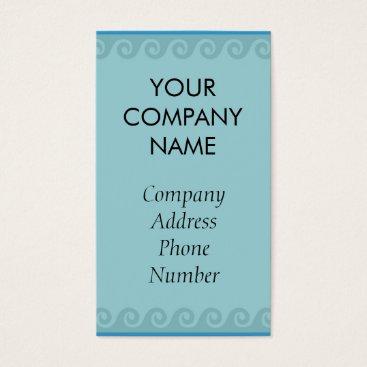 Professional Business Aqua themed business cards