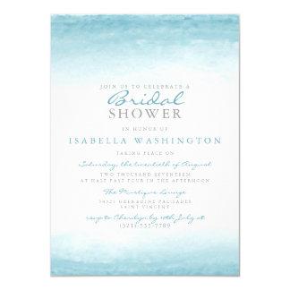 Aqua Tides   Watercolor Bridal Shower Invitation